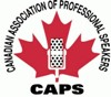 Logo for CAPS< Canadian Association of Professional Speakers